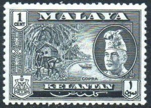 Kelantan 1957 1c Copra MH