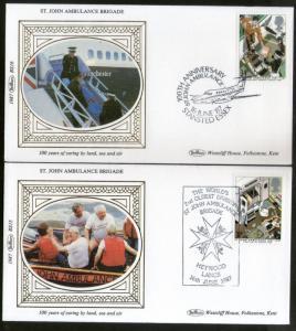 Great Britain 1987 St. John Ambulance Brigade Health First Aid Benham Silk FD...
