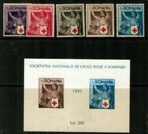 Romania Scott B164-9 Mint NH