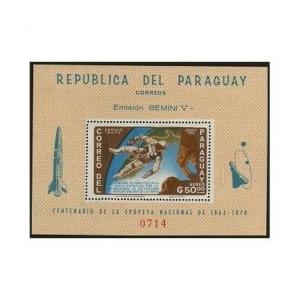 Paraguay 918a,918a imperf,MNH.Mi Bl.77-78. Edward White walking in space.1966.