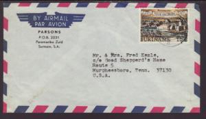 Suriname to Murpheesboro,TN 1960's Airmail Cover