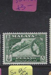 MALAYA  PENANG  (PP2901B)  QEII  8C TRAIN  SG 48   MOG