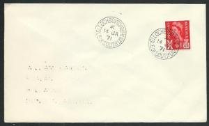 GB SCOTLAND 1971 cover LOCHBOISDALE / ISLE OF SOUTH UIST cds...............66306