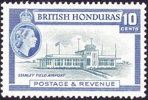 BRITISH HONDURAS 1953QEII 25c Slate & Bright Blue SG183MH