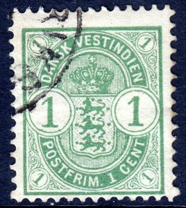 Danish West Indies (DWI) - Scott #21 - Used - SCV $3.00