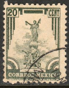 MEXICO 796, 20c 1934 Definitive. Monument. Used. F-VF. (785)
