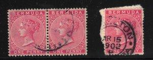 BERMUDA - SG1 1p Pair and Single Used