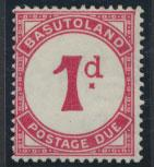 Basutoland  Postage Due  SG D1a scarlet Mint Light Hinge trace