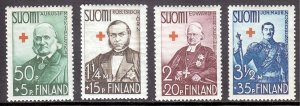 Finland - Scott #B27-B30 - MH - Gum wrinkling, pencil/rev. #B28 - SCV $9.80