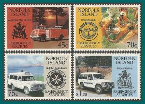 Norfolk Island 1993 Emergency Services, MNH #534-537,SG546-SG549