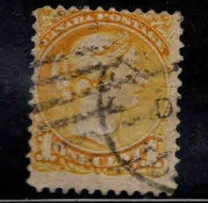 CANADA Scott 35 Used 1 cent  Victoria Stamp  CV $1.25