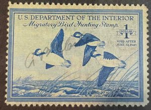 US Stamps #RW15 Used Federal Ducks #RW15A151