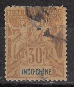 Indo-China Indochine 15 Cer 11 Forgery  F/VF 1892 SCV $8.00*