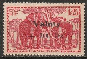 Cameroun 1943 Sc B22 Yt 241 MH* partial gum