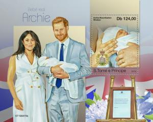 SAO TOME - 2019 - Royal Baby, Archie Mountbatten Windsor - Perf Souv Sheet - MNH