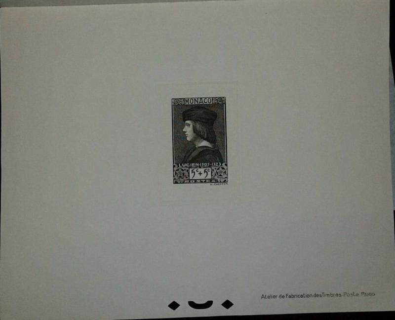 O) 1939 MONACO. PROOF, LORD OF MONACO -LUCIEN SCT B26  5c + 5c,XF