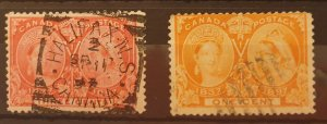 Canada Jubilee Stamps 1897 SG122/126 Used Condition