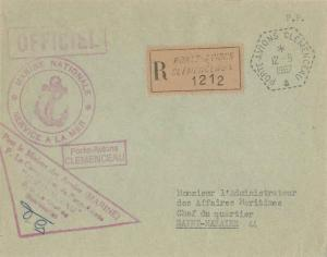 France Military Free Mail 1967 Porte-Avions Clemenceau Registered to Saint-Na...