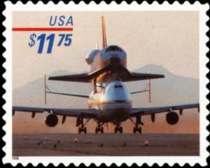 US Stamp 1998 $11.75 Piggyback Space Shuttle Express Stamp #3262