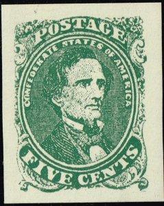 US STAMP #CSA1 1861 5c Confederate States - 'Facsimile STAMP MNH/OG