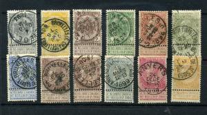 Belgium #60//73 Twelve issues CV $56.80