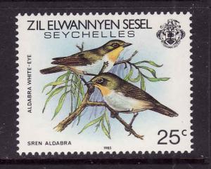 Seychelles-Zil Elwannyen Sesel-Sc.#98-unused NH-Birds-Aldabra White-Eye-