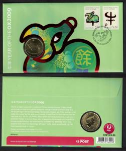 Christmas Is. Chinese New Year 'Year of the Ox' Numismatic FDC
