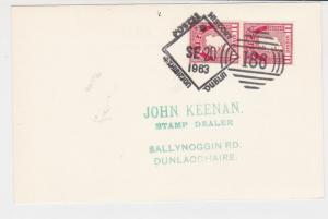 ireland dublin 1963 postal history special cancel stamps card ref 20343