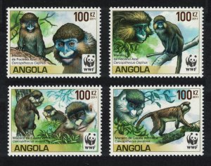 Angola WWF Monkeys Guenons 4v SG#1815-1818 SALE BELOW FACE VALUE