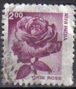 INDIA, 2000, used 2r, Rose