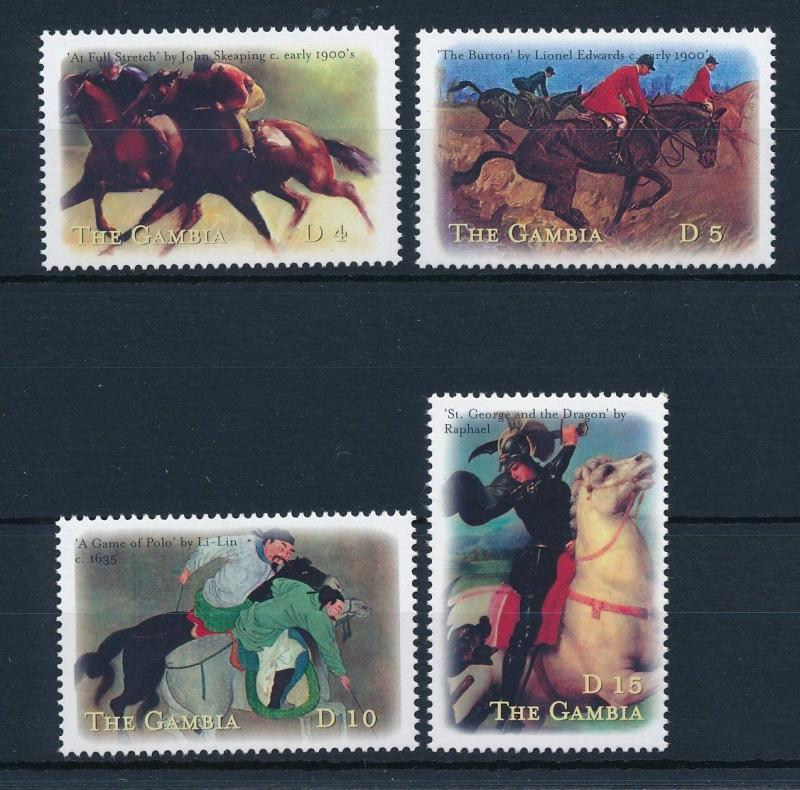 [31650] Gambia 2000 Horse in art paintings MNH