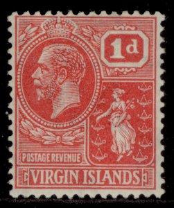 BRITISH VIRGIN ISLANDS GV SG87, 1d rose-carmine, M MINT.