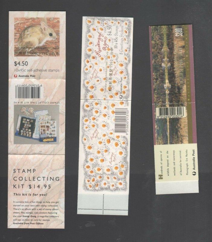 Australian Stamp Exhibition 1993 booklets 45c Mint MUH Taipei Taichung Koahsiung
