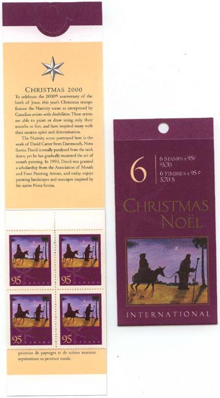 Canada - 2000 95c Christmas Booklet mint #BK235b