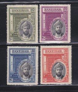 Zanzibar 214-217 Set MHR Sultan Khalifa bin Harub