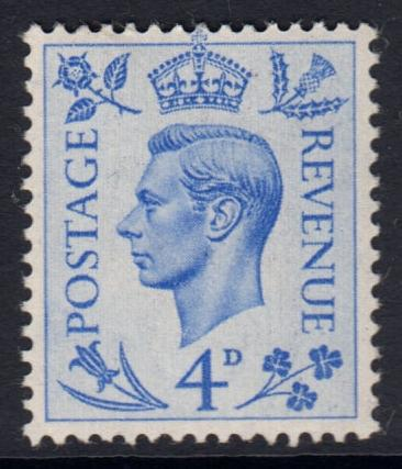GB KGVI 1950 4d Light Ultramarine SG508 Mint Hinged