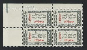 United States  Plate  Block  mnh SC  1141