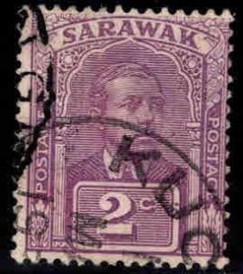 SARAWAK Scott 80 Used watermarked stamp