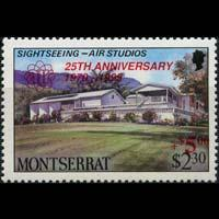MONTSERRAT 1995 - Scott# B3 Volcano Surch. Set of 1 NH