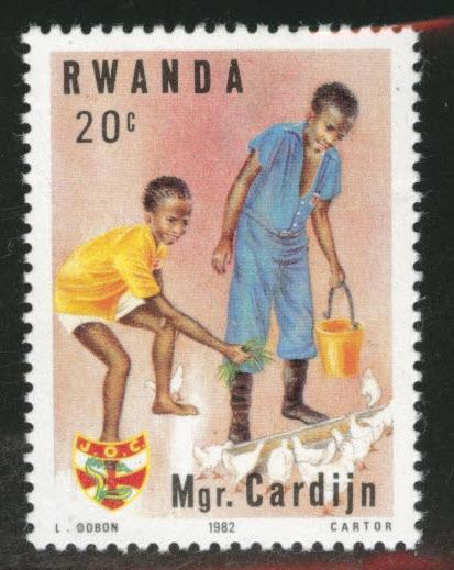 RWANDA Scott 1150 MNH** stamp 1982
