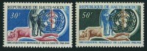 Burkina Faso 188-189.MNH.Michel 238-239. WHO-20,1968.Emblem,sick people.1968.
