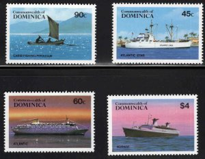 DOMINICA Scott 842-845 MNH** Ship Set CV $13