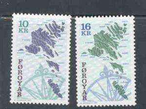 Faroe Islands Sc 305-6 1996  Sea Bed stamp set mint NH