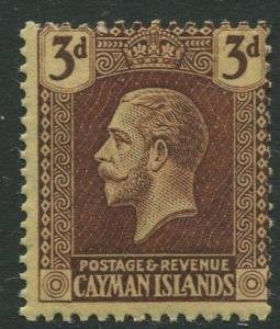 Cayman Islands #56 KGV MLH  Scott CV. $3.25