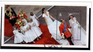 Guernsey Sc 1129 2011 Royal Wedding stamp sheet used