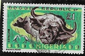 1965  Thematics -  NIGERIA  -  SG.  185  -  AFRICAN BUFFALO  - USED