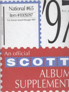 Scott National Supplement #65 IssuesThrough 1997