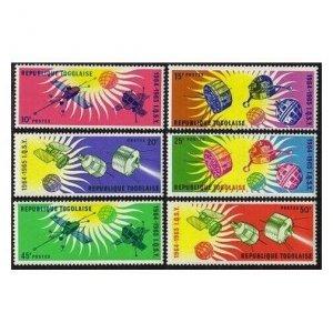 Togo 500-505,505a,MNH.Michel 446-451,Bl.17. Quiet Sun Year IQSY-1964.Satellites.