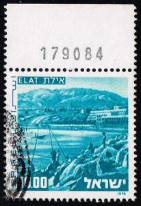 Israel #592 Elat and Harbor; Used (0.25)