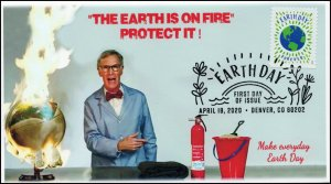20-080, 2020, Earth Day, Pictorial Postmark, First Day Cover, Bill Nye